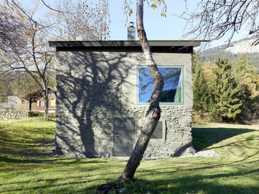 Фасад загородного домика в стиле минимализм