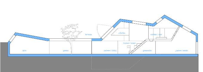План дома на узком участке