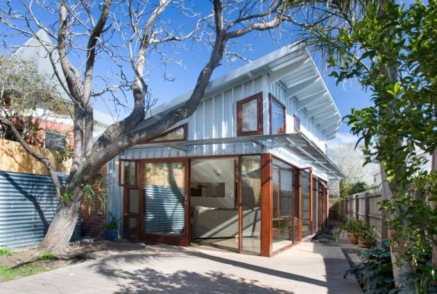 дом с односкатной крышей фото 1