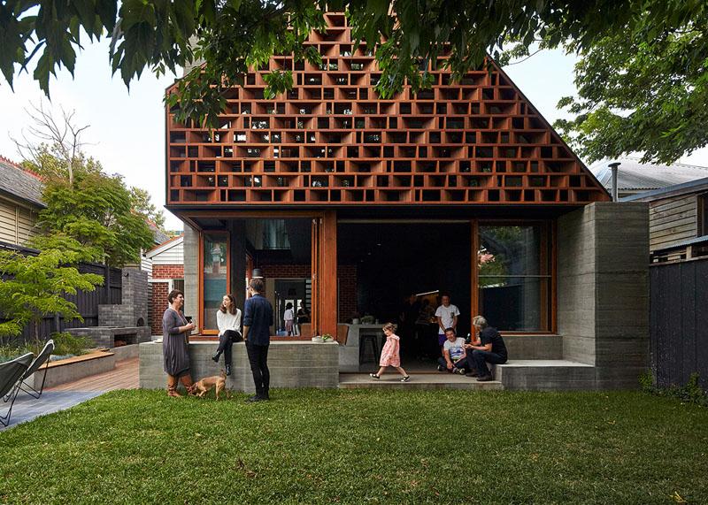 Необычный дизайн фасада кафе