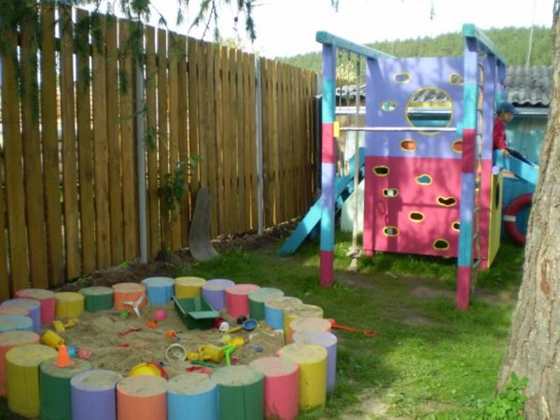 Детские площадки своими руками на даче фото