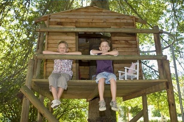 Детский домик на деревьях своими руками