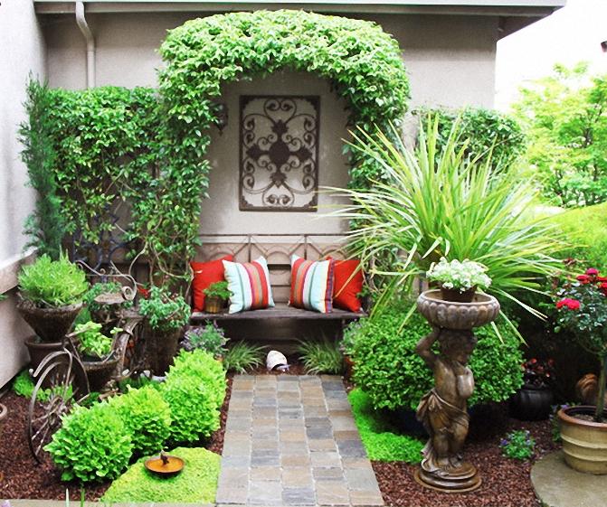 Дизайн двора своими руками частного дома в