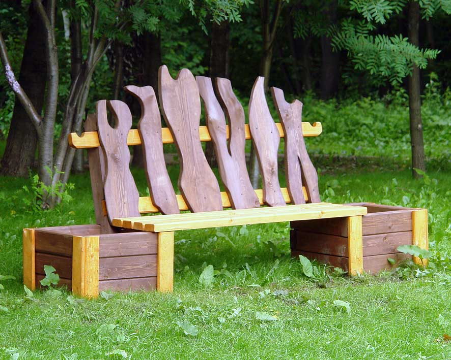 Фото скамейка для дачи своими руками