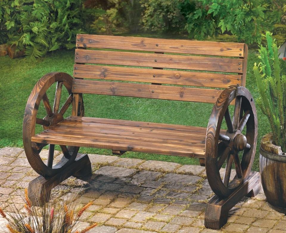 Декоративную скамейку своими руками