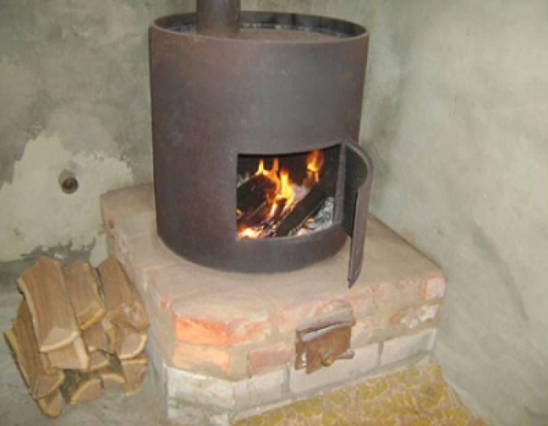 Печь для дачи на дровах своими руками на улице