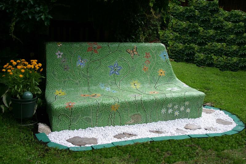 Дачная мозаика в саду своими руками 94