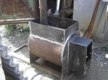 как сделать металлическую печь своими руками