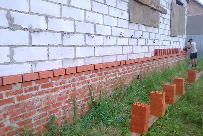 материалы для отделки фундамента дома