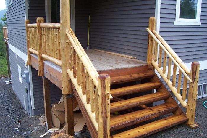 Постройка деревянного крыльца