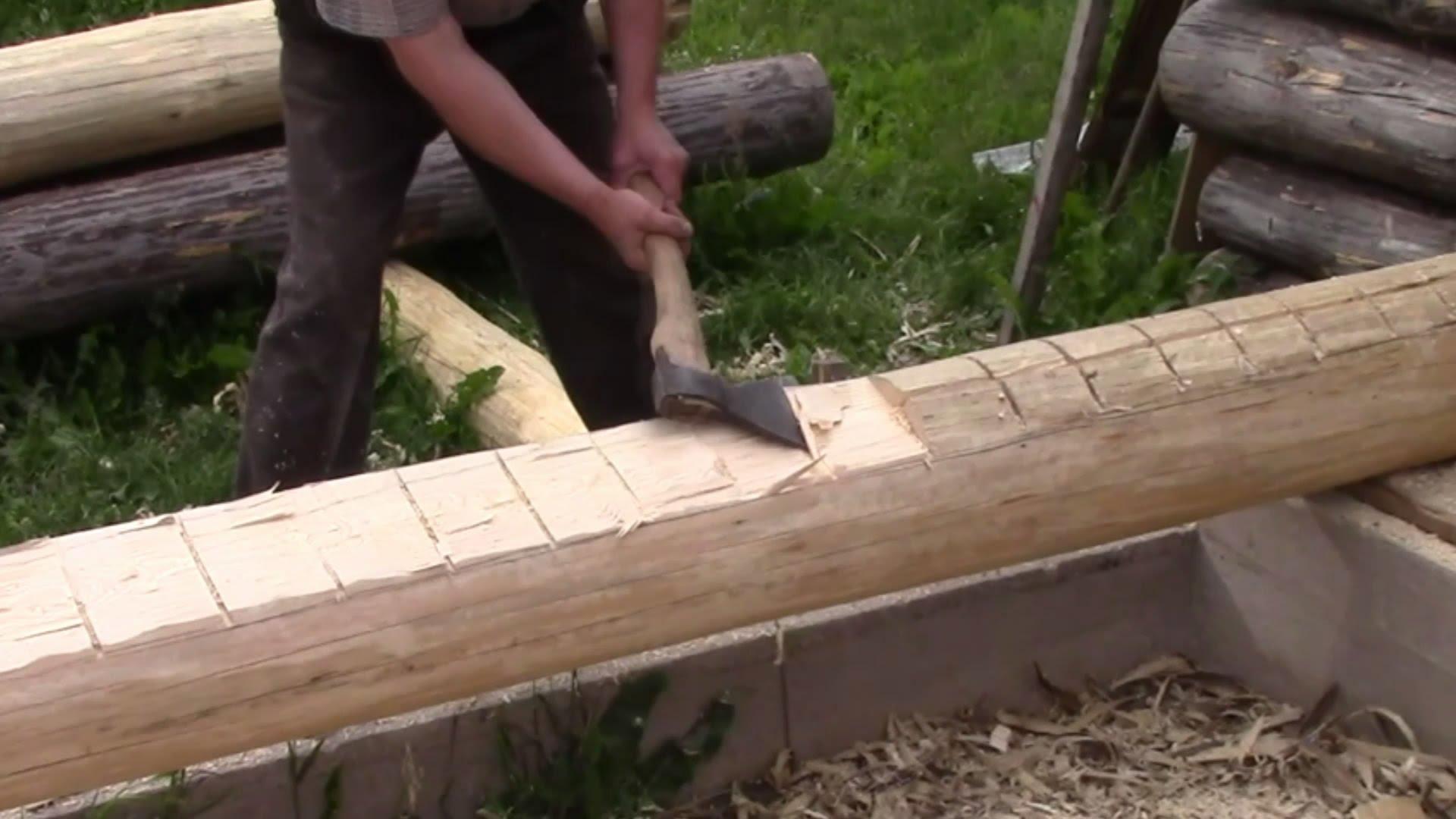 Как сделать сруб для бани видео