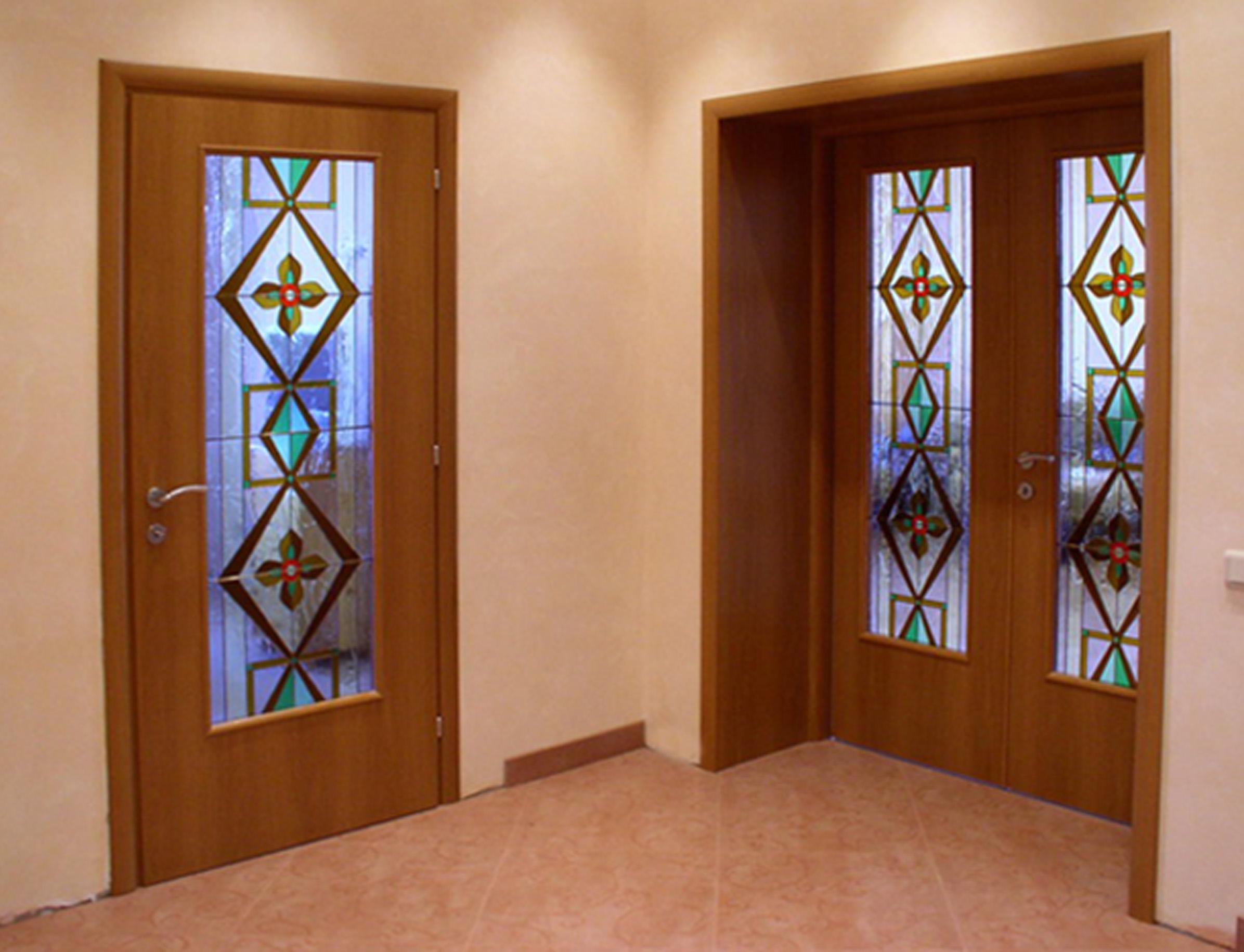 Декор стеклянных дверей