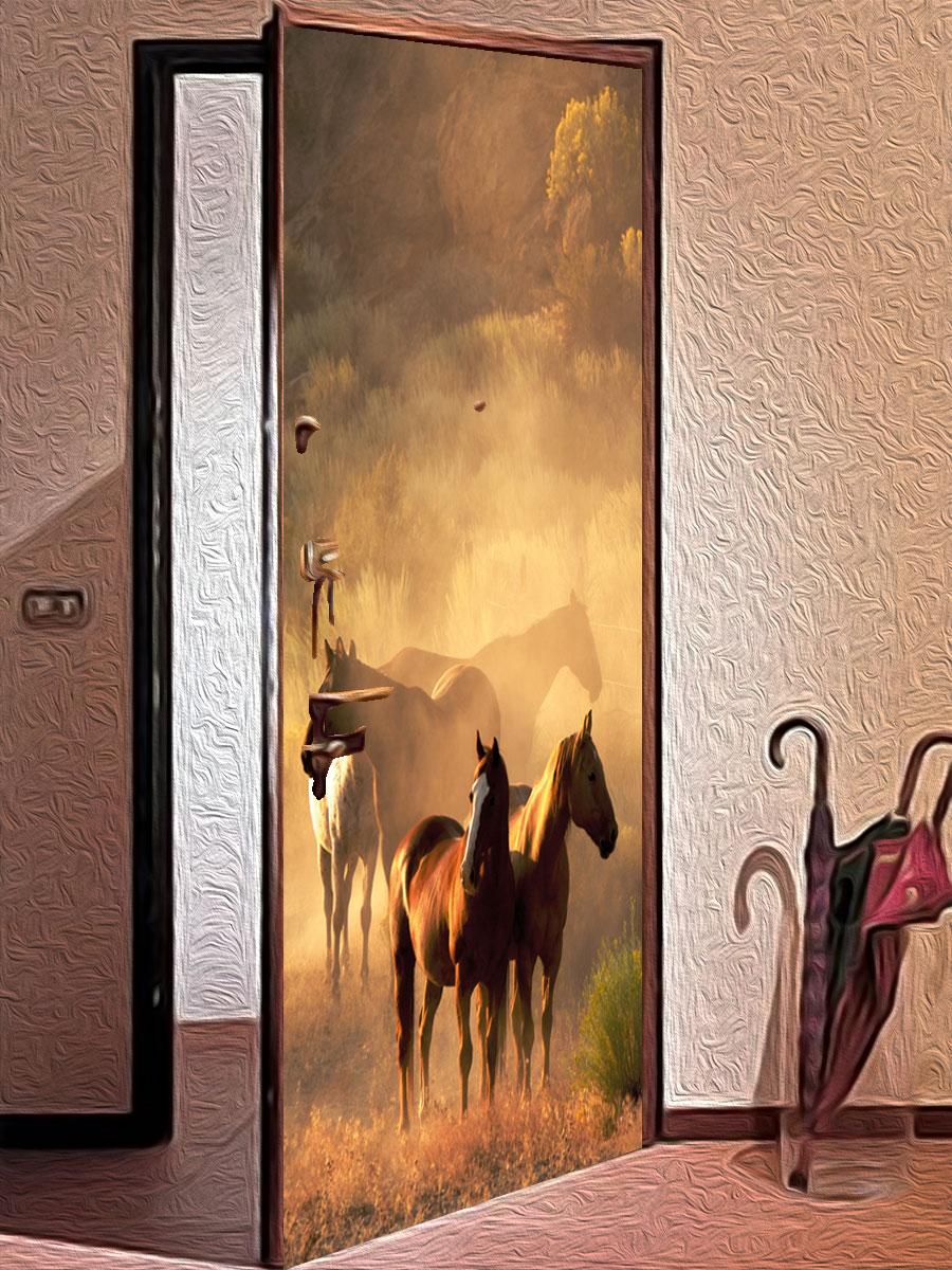 Как украсит дверь своими руками 996