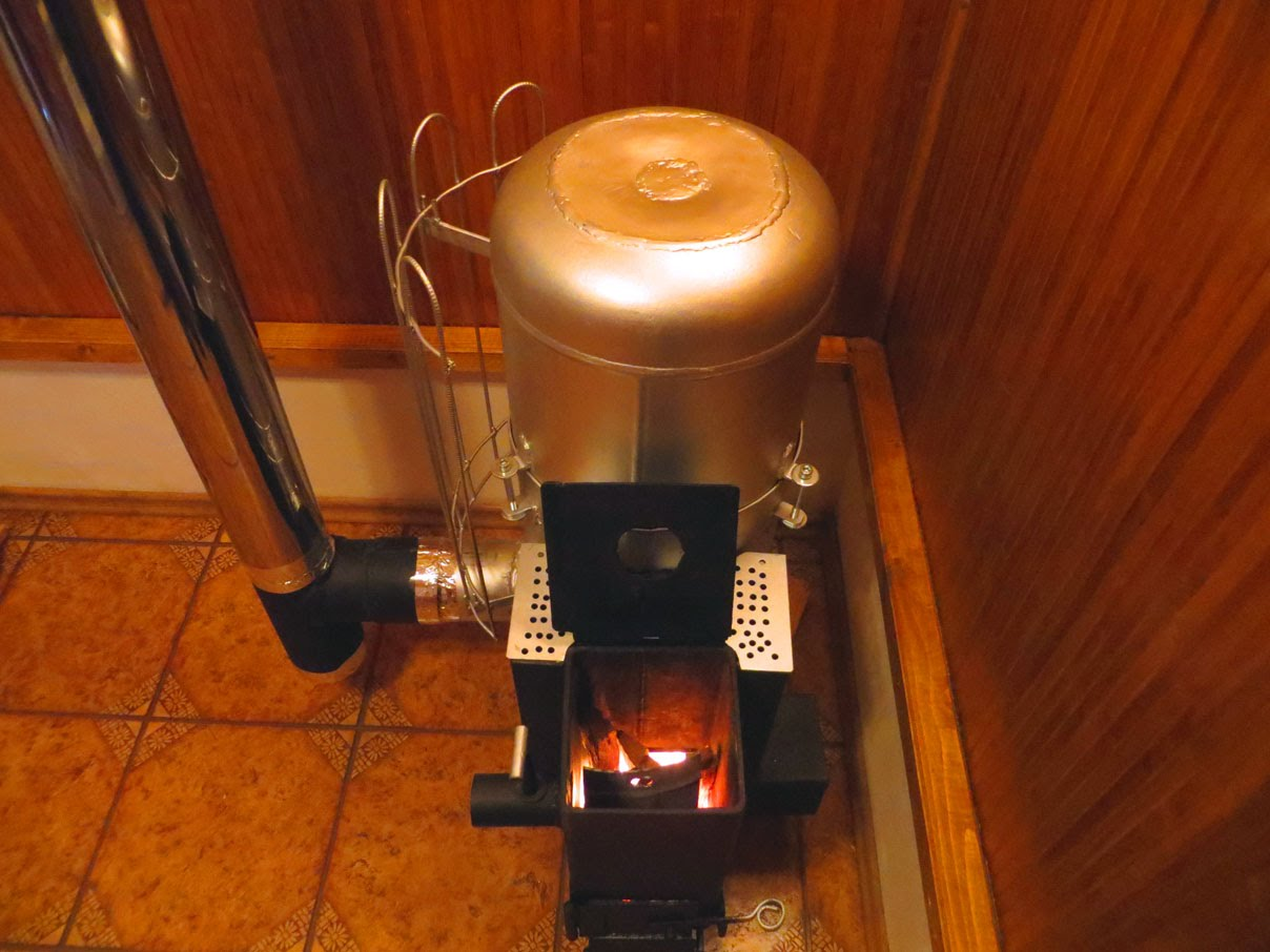 печь из газового баллона