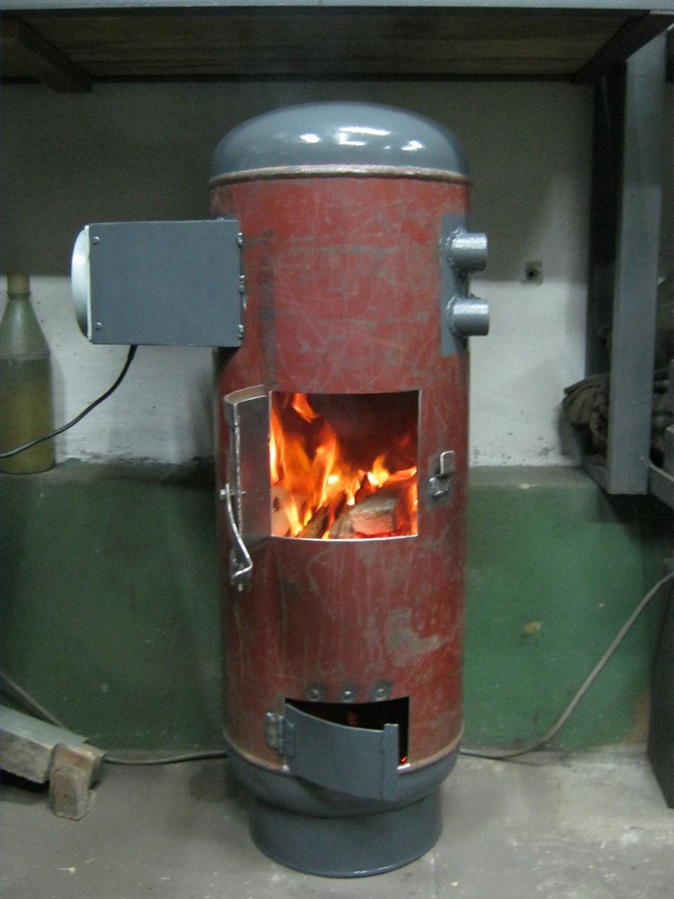 Печка-буржуйка на дровах своими руками