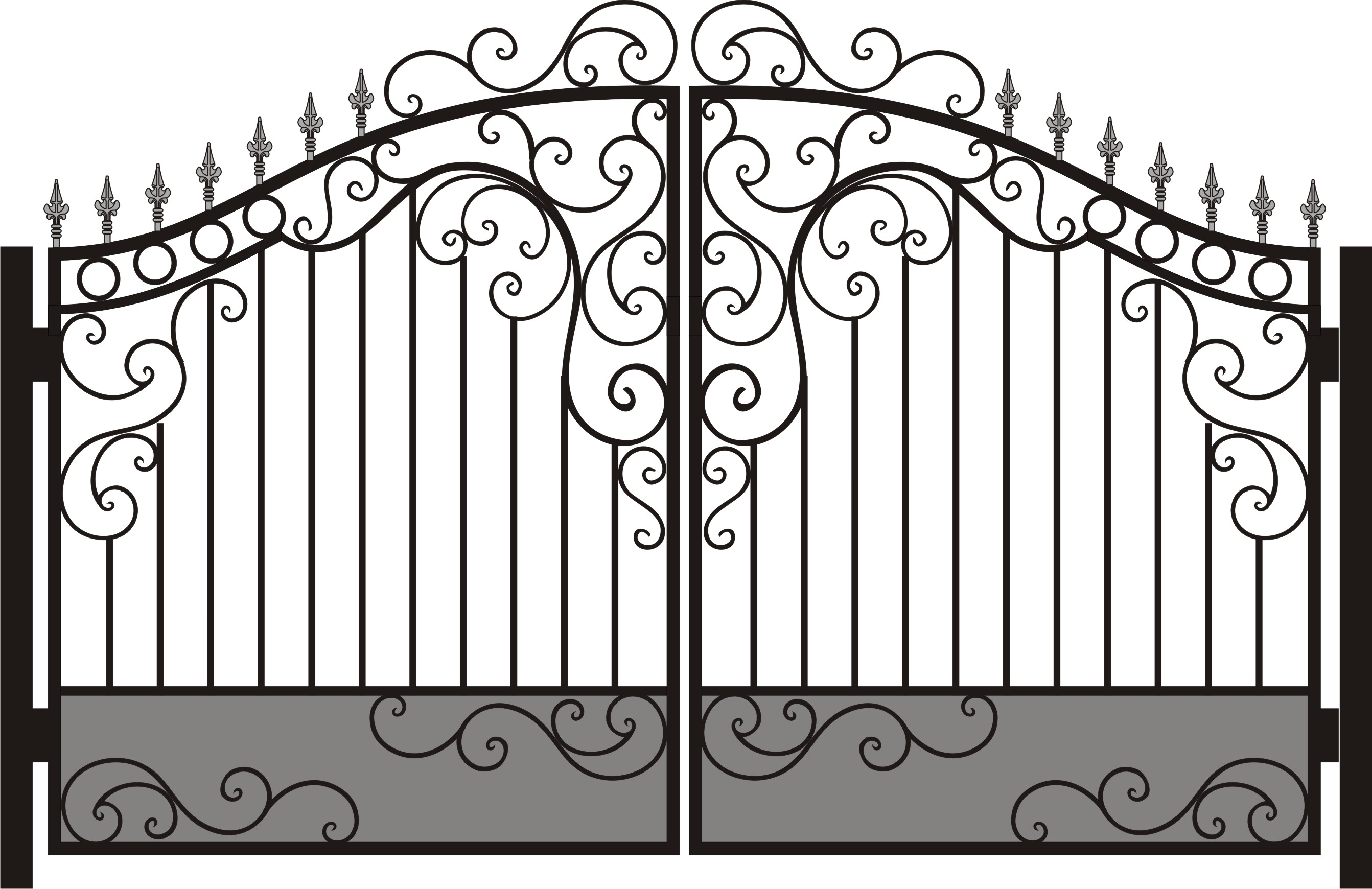 Узор для ворот своими руками