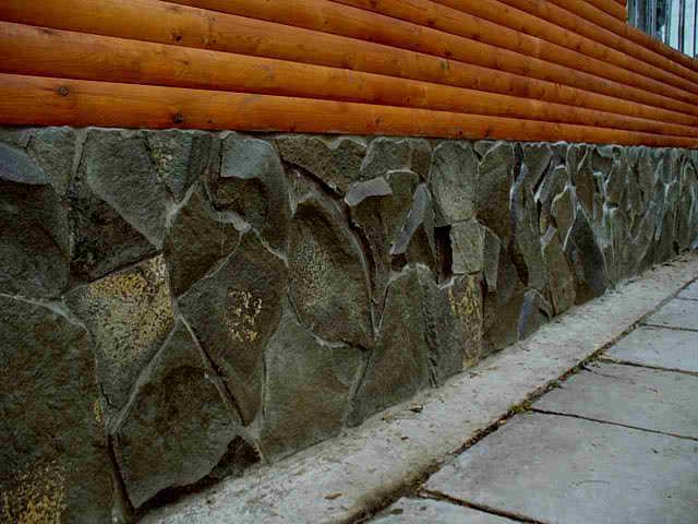 Камень для цоколя фото