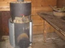 печь из трубы для бани