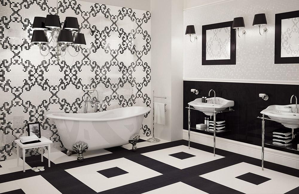 Правила раскладки плитки в ванной комнате