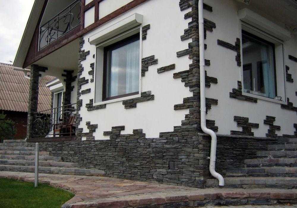 Фасад из декоративного камня своими руками 84