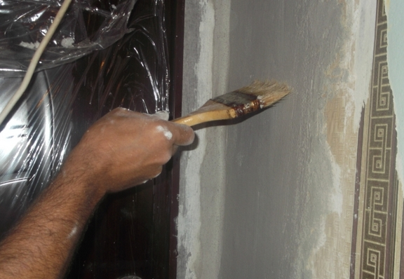 Как сделать штукатурку в двери