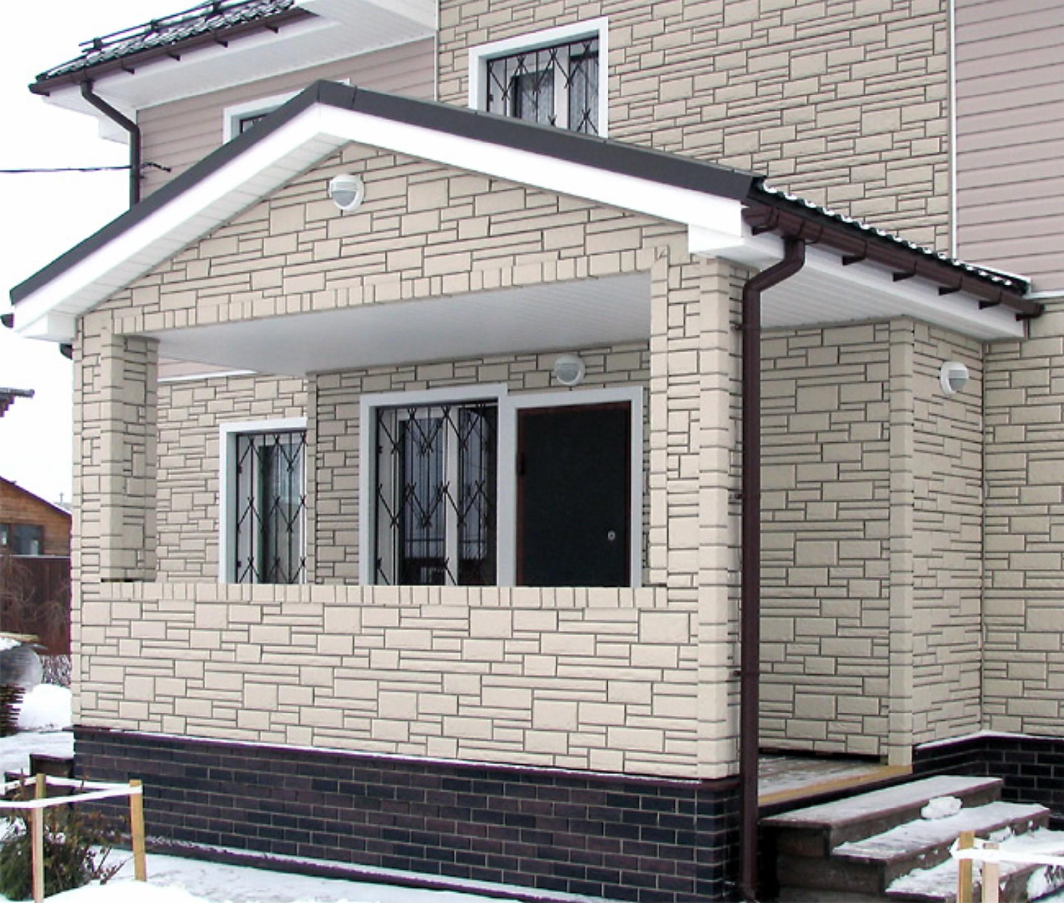 Оформление крыльца загородного дома: варианты отделки.