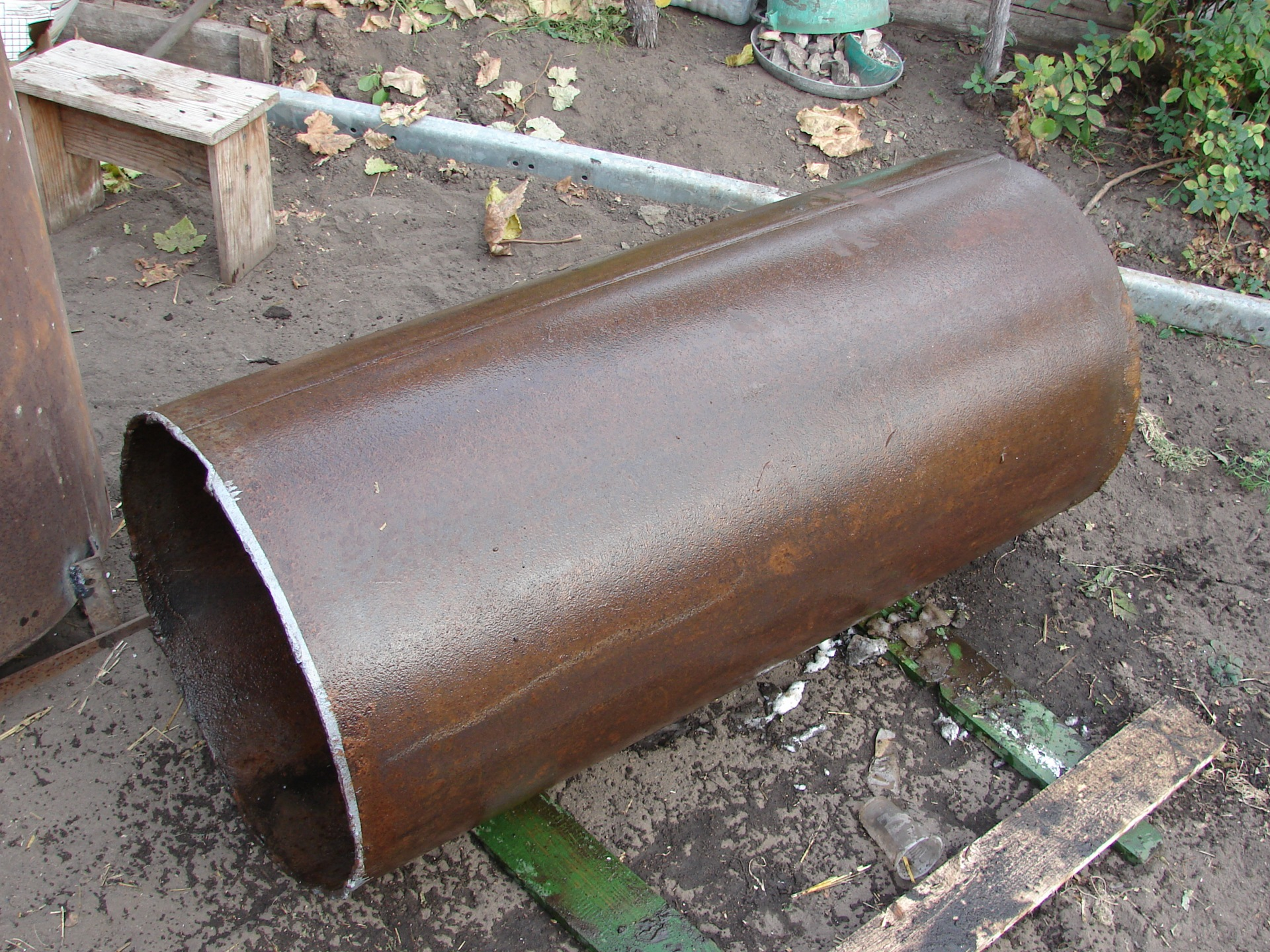 Печь для гаража из трубы 500 мм своими руками 4