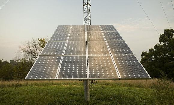 автономный дом солнечная установка
