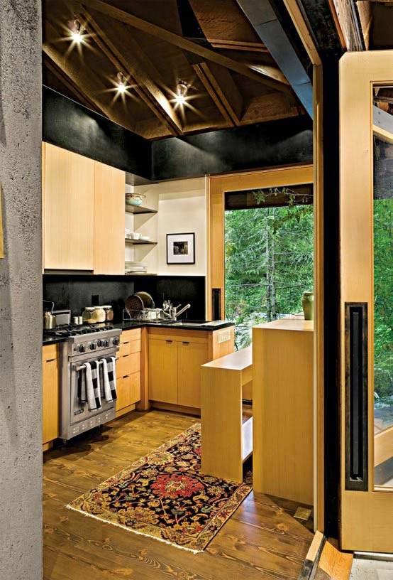 компактный дом кухня