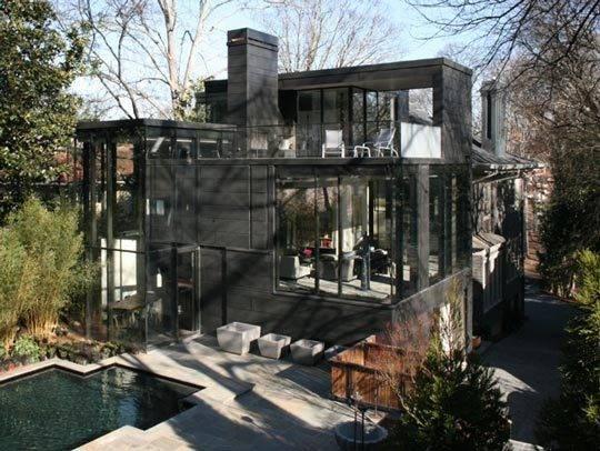 Современный разноуровневый дом