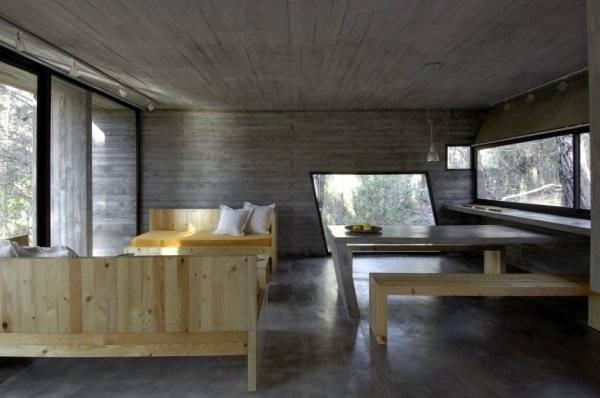 Дом из бетона - столовая