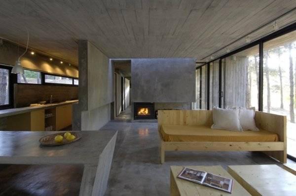 Дом из бетона - кухня
