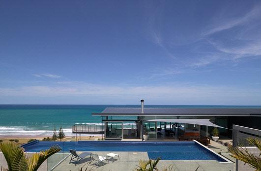 частный дом Okitu House – прекрасный дом на побережье по проекту Пита Боссли