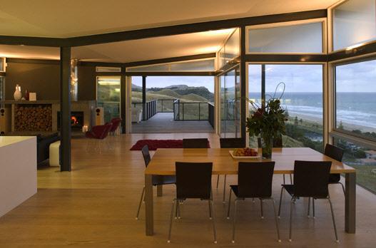 Okitu House – прекрасный дом на побережье по проекту Пита Боссли