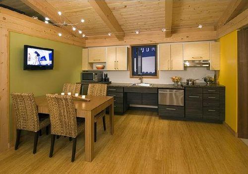 Современный модульный дом -  кухня