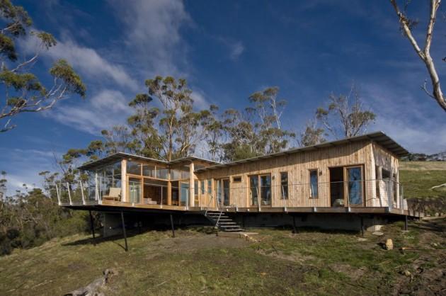 частный дом на острове Тасмания по проекту Dock4 Architecture