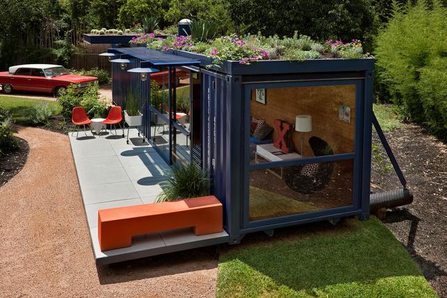 Малобюджетный дом из грузовых контейнеров