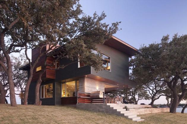 Дом у озера по проекту Dick Clark Architecture