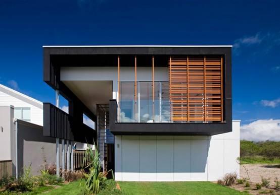 красивый дом на побережье по проекту Base Architecture