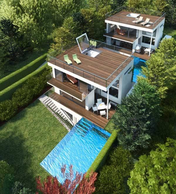 Трехэтажный дом по проекту Architekt DI Johann Lettner