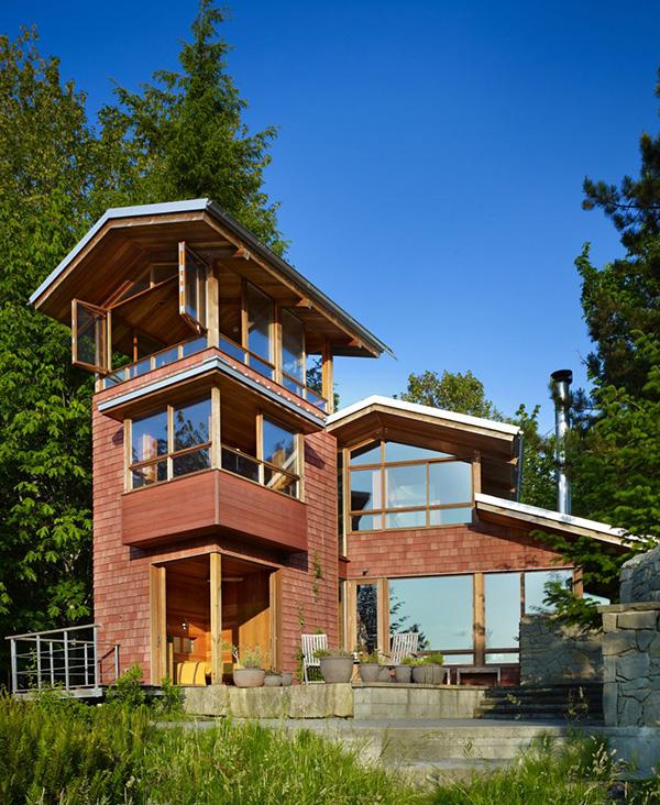 Дом на озере по проекту BjarkoSerra Architects