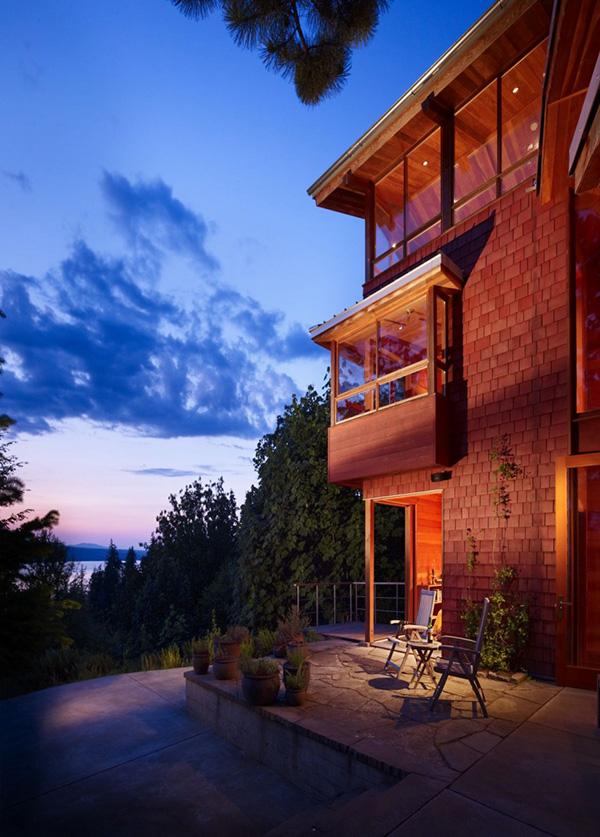 частный дом на озере по проекту BjarkoSerra Architects