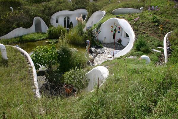 загородные земляные дома от Vetsch Architektur