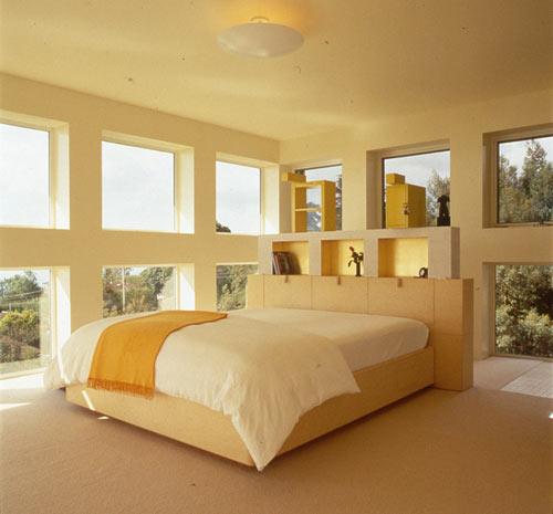 современный дом - спальня