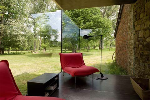 Флигель со стеклянной пристройкой фото 1