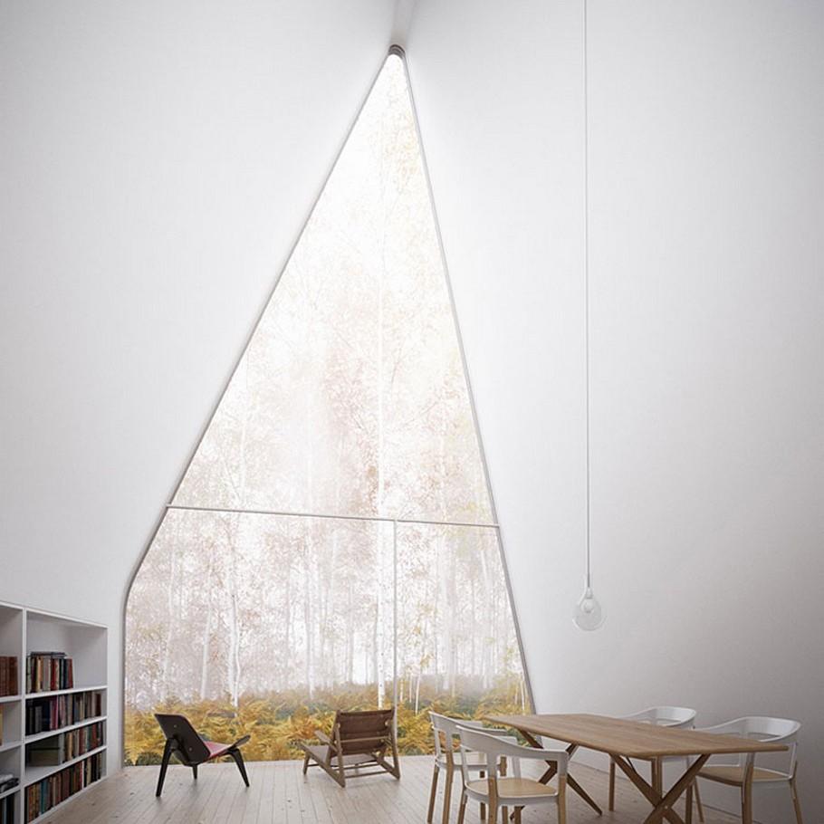 Загородный дом - фото столовой