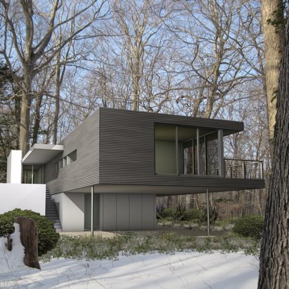 Блочный дом - проект Стелл Архитект в Хэмптоне