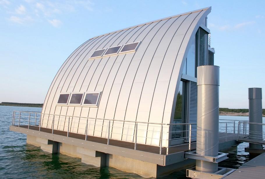 Современный плавающий дом фото 1