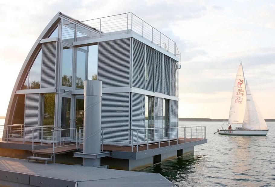 Современный плавающий дом фото 7