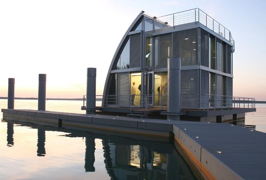 Современный плавающий дом фото 8